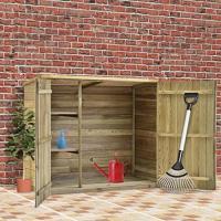 Acheter vidaXL Abri à Outils de Jardin 135x60x123 cm Pinède imprÃgnÃe au meilleur prix