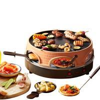 Comparateur de prix Emerio PO-113255.4 Four à raclette et à pizza Terre cuite / Noir One Size
