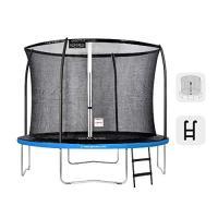 Acheter GREADEN Trampoline de Jardin Freestyle Bleu 305 Set Complet avec Filet Coussin de Protection + Échelle Ø 305cm - Ultra sécurisé au meilleur prix
