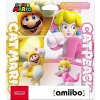 Acheter Double pack Figurines Amiibo Mario Chat et Peach Chat au meilleur prix