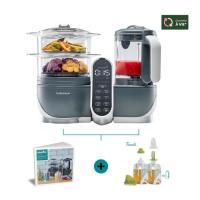 Acheter Babymoov A108463 Babymoov Nutribaby(+) Gris & Foodii - Robot Multifonctions & Kit de Gourdes Réutilisables au meilleur prix
