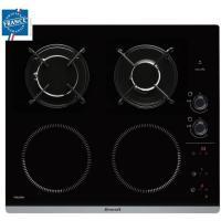 Acheter BRANDT BPI6413BM - Table de cuisson mixte induction / gaz - 4 zones - L 51 x P 58 cm - Revêtement verre - Noir  au meilleur prix