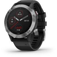 Acheter Garmin fenix 6 - Montre GPS multisports haut de gamme - Silver avec bracelet noir  au meilleur prix