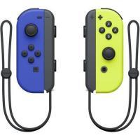 Acheter Paire de manettes Joy-Con gauche bleue et droite jaune néon  au meilleur prix