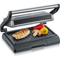 Acheter SEVERIN KG2394 Gril multifonction compact : viande - paninis - légumes - plaques anti-adhésives 23x14 -5 cm - récupérateur de graiss  au meilleur prix