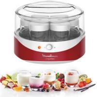 Comparateur de prix MOULINEX YG229510 Yaourtière Yogurteo - 7 pots en verre - Rouge et blanc