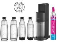 Comparateur de prix Machine à soda Sodastream DUO Noire Pack 4 bouteilles