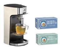 Comparateur de prix Senya Machine à Thé Tea Time Théière électrique Crème 1415W et Lot de 2 boîtes 60 sachets-Les 2 (Thym + Infusion des Marmottes)