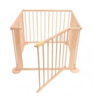 Acheter Bc-elec - 5664-0058YLB Parc bébé carre en bois 3.6m, 4 panneaux de 70x90 cm au meilleur prix