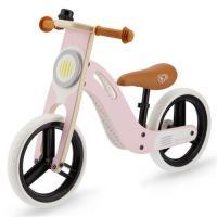 Kinderkraft Vélo Draisienne en bois UNIQ - 12 pouces - à partir de 2 ans - Couleur Rose