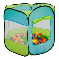 Comparateur de prix LittleTom Tente de jardin à boules 100x100x72cm jouet pour jeunes enfants Bleu