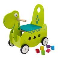 Acheter Porteur en bois pour bébé Le dinosaure au meilleur prix
