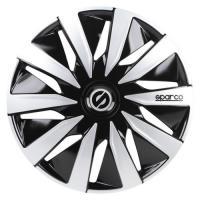 Acheter Sparco enjoliveurs Lazio 13 pouces ABS noir / argent lot de 4 au meilleur prix