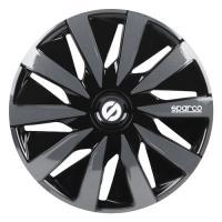 Acheter SPARCO 4 Enjoliveurs Lazio 14- Noir et Gris  au meilleur prix