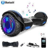 Hoverboard 6,5 pouces Bluetooth LED Moteur 700W - Noir
