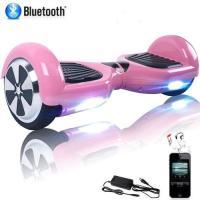 Acheter Hoverboard 6,5 pouces Moteur Puissant 700W Self-Balancing Scooter Bluetooth LED - Rose au meilleur prix
