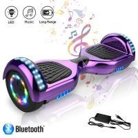 Acheter Hoverboard 6,5 pouces Tout-Terrain Auto-équilibrant Bluetooth LED avec Moteur 700W - Violet chrome au meilleur prix