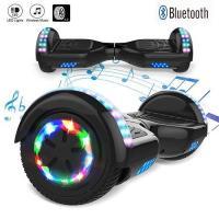 Acheter Hoverboard 6,5 pouces Tout-Terrain Auto-équilibrant Bluetooth LED avec Moteur 700W - Noir au meilleur prix