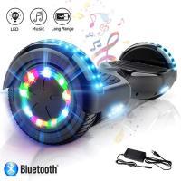 Acheter Hoverboard bluetooth 6.5 pouces roues led light puissance 700W noir avec sac de transport et télécommande au meilleur prix