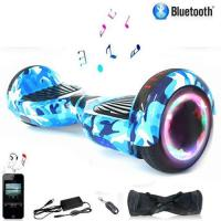 Hoverboard Bluetooth 6.5Bleu Camouflage-700W-Sac+Télécommande