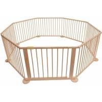 Bc-elec - 5664-0017YLB Parc bébé octogonal modulable en bois 7.2m, 8 panneaux de 70x90 cm