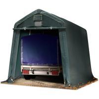Comparateur de prix Intent24.fr - Abri/Tente garage PREMIUM 2,4 x 3,6 m pour voiture et bateau - toile PVC env. 500g/m² imperméable vert fonce