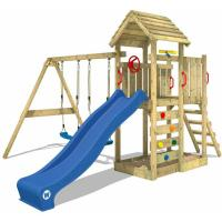 Comparateur de prix WICKEY Balançoire / Portique Enfant - Aire de Jeux Multiflyer toit en bois - 2 Agrès