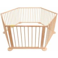 Bc-elec - 5664-0018YLB Parc bébé hexagonal modulable en bois 5.4m, 6 panneaux de 70x90 cm