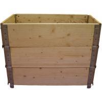 Acheter Carré potager en bois naturel 800x400mm hauteur 585mm  au meilleur prix