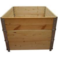 Acheter Carré potager en bois naturel 800x800mm hauteur 585mm  au meilleur prix