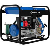 Acheter EBERTH 5000 Watt Générateur diesel (1x 400V, 1x 230V, 1x 12V, E-Start, Moteur diesel 10 CV, 4 temps, triphasé, Voltmètre) au meilleur prix