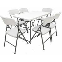 Acheter Ensemble de Meubles de Jardin 6 Chaises 120 cm Table Pliable Résistant aux Intempéries - AMANKA  au meilleur prix