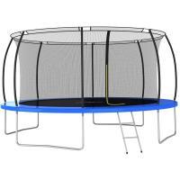 Comparateur de prix vidaXL Ensemble de trampoline rond 460x80 cm 150 kg