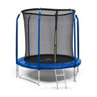Comparateur de prix Klarfit Jumpstarter Trampoline De Jardin Ø 2,5m - Filet De Sécurité - Echelle - Surface De Saut 1,95 M - Charge 120kg Max. - Acier - Bleu