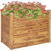 Acheter VidaXL Jardinière surélevée en bois d'acacia massif 110 x 60 x 84 cm au meilleur prix
