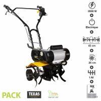 Comparateur de prix Motobineuse électrique 2000 watts largeur travail 45cm Texas ELTEX2000 - Noir