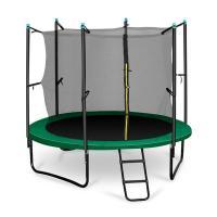 Acheter Klarfit Rocketstart 250 Trampoline 250cm Filet de sécurité échelle large vert  au meilleur prix