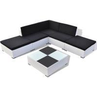 Acheter vidaXL Salon de Jardin 15 pièces en rotin Blanc au meilleur prix