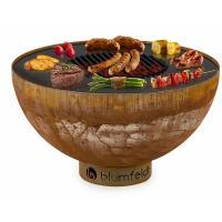 Acheter Blumfeldt Savage Braséro De Jardin - Grille Acier Ø 60,5 Cm - Résistant À La Pluie Et Au Gel - Design Rustique Rouille au meilleur prix