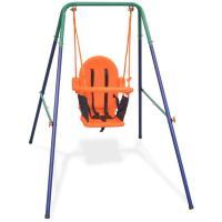 Comparateur de prix vidaXL Balançoire pour enfants avec harnais de sécurité Orange