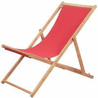 Acheter vidaXL Chaise Plage Pliante Tissu Rouge Jardin Terrasse Patio Balcon Fauteuil au meilleur prix