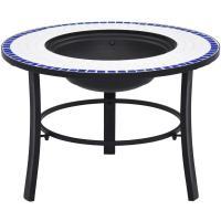 Acheter vidaXL Foyer mosaïQue Bleu et Blanc 68 cm CÃramique au meilleur prix