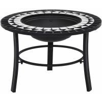 Acheter vidaXL Foyer mosaïQue Noir et Blanc 68 cm CÃramique au meilleur prix