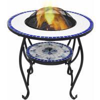 Comparateur de prix Table de foyer mosaïque Bleu et blanc 68 cm Céramique