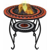 Comparateur de prix Table de foyer mosaïque Terre cuite et blanc 68 cm Céramique