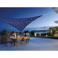 Voile d'ombrage Triangulaire 3.60 m avec LEDs en Ciel étoilé - Coloris Bleu Nuit