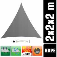 Acheter AMANKA Voile d'ombrage UV - 2x2x2 m HDPE Triangle Protection Solaire - Toile de Jardin Balcon Gris au meilleur prix