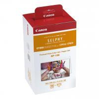 Comparateur de prix CANON RP-108 Kit cassette à ruban d'impression + papier - 108 tirages - format carte postale 10 x 14,8 cm