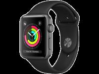 Acheter AppleWatch Series3 GPS, 42mm Boîtier en aluminium gris sidéral avec bracelet sport noir  au meilleur prix