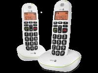 Comparateur de prix DORO Téléphone sans fil PhoneEasy Duo DECT avec afficheur - 100 W - Blanc
